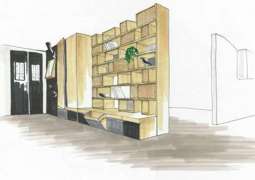 Odrè En'Ryll Bibliothèque Pot dessin