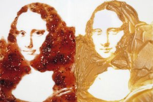 nourriture Vik-Muniz-Double-Mona-Lisa-Peanut-butter-and-Jelly-from-the-series-After-Warhol-1999
