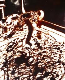 nourriture vik muniz photo d'action d'après Hans Namuth série Image of chocolate 1999