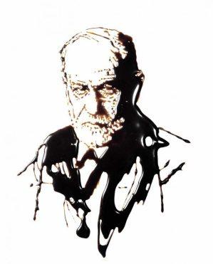 nourriture Vik Muniz Sigmund Freud, Série pictures of chocolate 1997