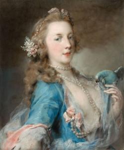 Emotion espiègle Une jeune femme avec un perroquet de Rosalba Carriera vers 1730