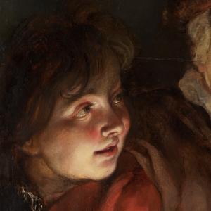 Emotion Rubens Vieille femme et garçon avec bougies 1616-17 Maurithuis Haute résolution - Copie
